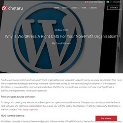 Is Wordpress A Right CMS For Your Non-Profit Organisation?