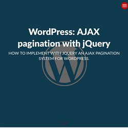WordPress: AJAX pagination with jQuery