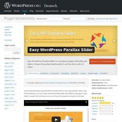 WordPress › Easy WordPress Parallax Slider « WordPress Plugins