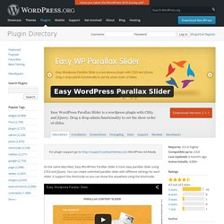 Easy WordPress Parallax Slider — WordPress Plugins