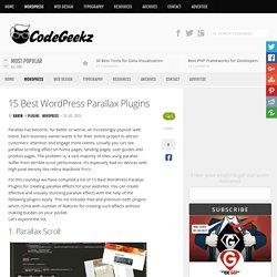 15 Best WordPress Parallax Plugins