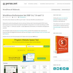 WordPress-Performance bei PHP 5.6, 7.0 und 7.1 » perun.net
