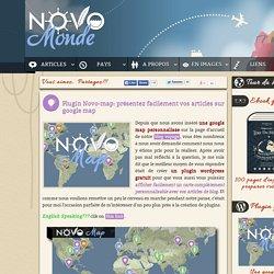 Novo-map : plugin wordpress pour créer une google map personnalisable