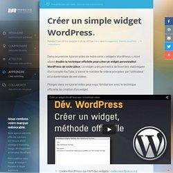 Créer un custom widget dans WordPress et personnaliser vos sidebars !