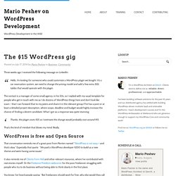 The $15 WordPress gig - Mario Peshev on WordPress Development