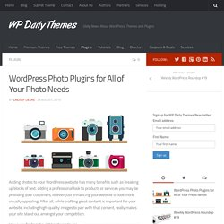 WordPress Photo Plugins for All of Your Photo Needs - WP Daily Themes