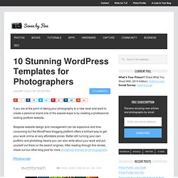 10 Stunning Wordpress Templates for Photographers : Seven by Five