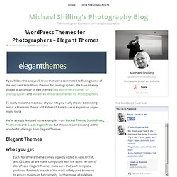WordPress Themes for Photographers - Elegant Themes | Photo Creative 365