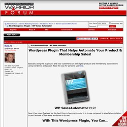 PLR Wordpress Plugin - WP Sales Automator