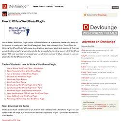 How to Write a Wordpress Plugin