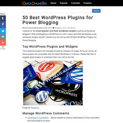 50 Best WordPress Plugins for Power Blogging