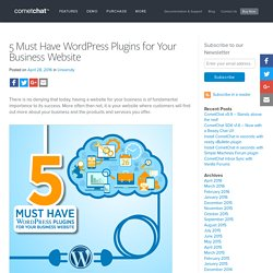 5 Must Have WordPress Plugins for Your Business Website