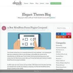 15 Best WordPress Forms Plugins Compared
