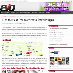 10 of the Best Free WordPress Travel Plugins