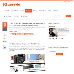 100 jQuery WordPress Plugins