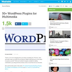50+ WordPress Plugins for Multimedia