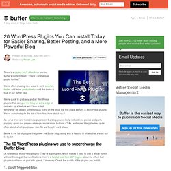 20 WordPress Plugins for a More Powerful Blog