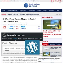 21 WordPress Backup Plugins to Protect Your Website