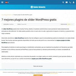 Slider WordPress: 7 plugins gratis para crear sliders responsive