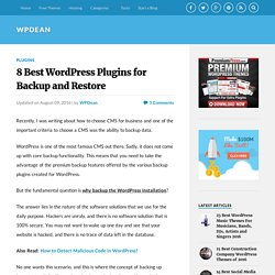 8 Best WordPress Plugins for Backup and Restore - WPDean