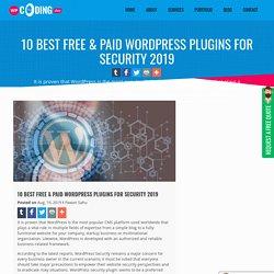 10 Best WordPress Plugins for Security 2019