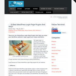 10 Best WordPress Login Page Plugins that Help!