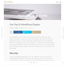 Our Top 10 WordPress Plugins for 2016