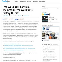 Free Wordpress Portfolio Themes: 30 Free Wordpress Gallery Themes