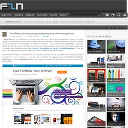 Wordpress.com : arrivée des portfolio !