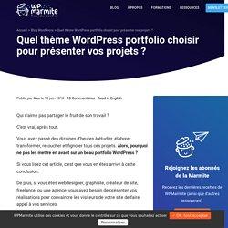 Trouvez le bon thème WordPress portfolio pour votre site