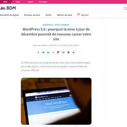 WordPress 5.6 : pourquoi la mise à jour de décembre pourrait de nouveau casser votre site
