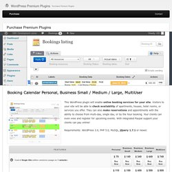 WordPress Booking calendar : pricing