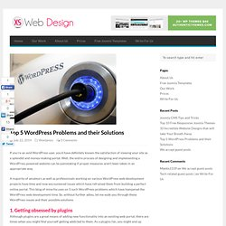 Top 5 WordPress Problems and their Solutions