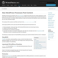How WordPress Processes Post Content