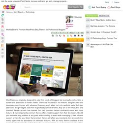 World's Best 10 Premium WordPress Blog Themes for Professional Bloggers