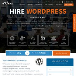 Hire Wordpress Developer: Professional Theme & Plugin Developer @ eSparkBiz