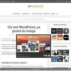 Un site WordPress professionnel ça demande plus que 5 mn
