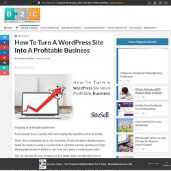 How To Turn A WordPress Site Into A Profitable Business