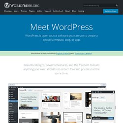 WordPress › Blog Tool, Publishing Platform, and CMS