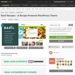 WordPress - Basil Recipes - A Recipe-Powered WordPress Theme