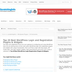 Top 20 Best WordPress Login and Registration Plugins & Widgets