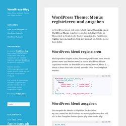 WordPress Theme: Menüs registrieren und ausgeben - WordPress-Blog