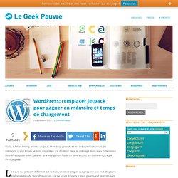 Wordpress: remplacer Jetpack pour gagner en mémoire