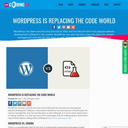 WordPress Is Replacing The Code World
