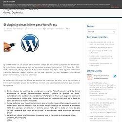 El plugin Ig-sintax-hiliter para Wordpress