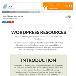 WordPress Resources: WordPress Resources