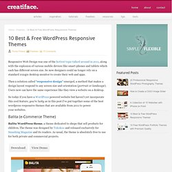 10 Best (FREE) WordPress Responsive Themes from 2011 | Freebies