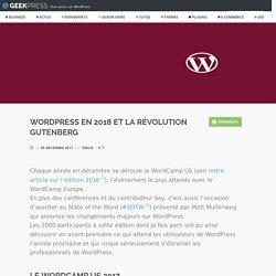 WordPress en 2018 et la révolution Gutenberg