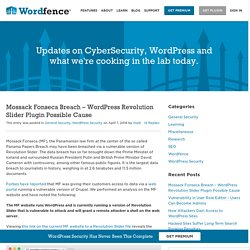 Mossack Fonseca Breach - WordPress Revolution Slider Plugin Possible Cause