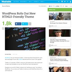 WordPress Rolls Out New HTML5-Friendly Theme